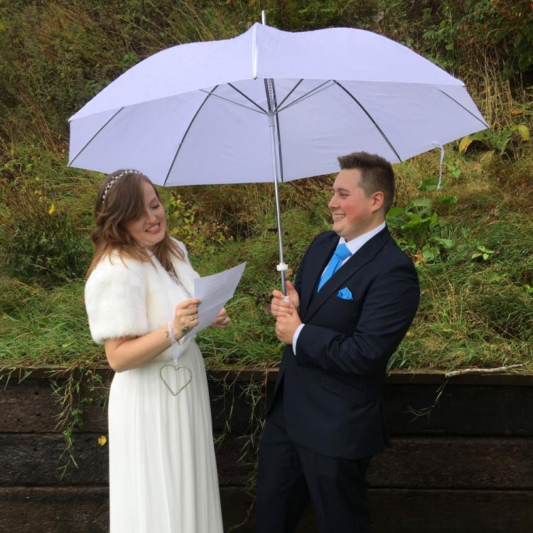 Wedding Couple at Loch Ness B&B